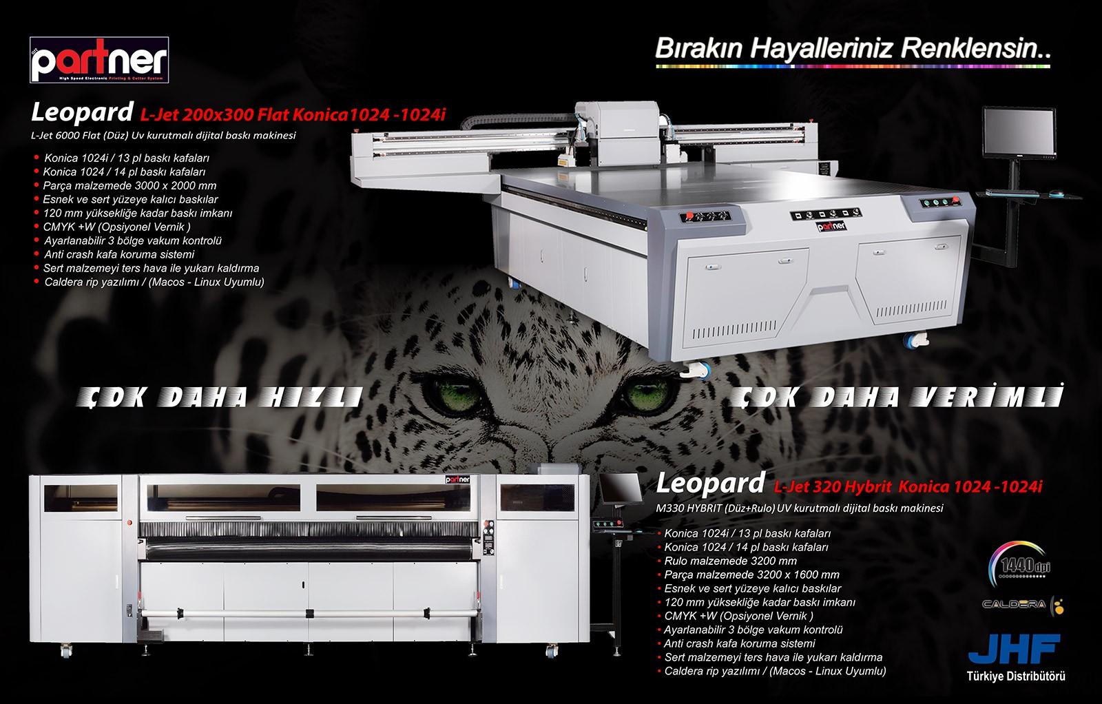 Leopard L-Jet 200x300 UV  - L-Jet 320 Hybrit UV Konica 1024i